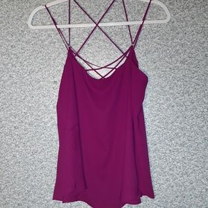 Express Women Purple Solid Tank Top Sz small.  Con